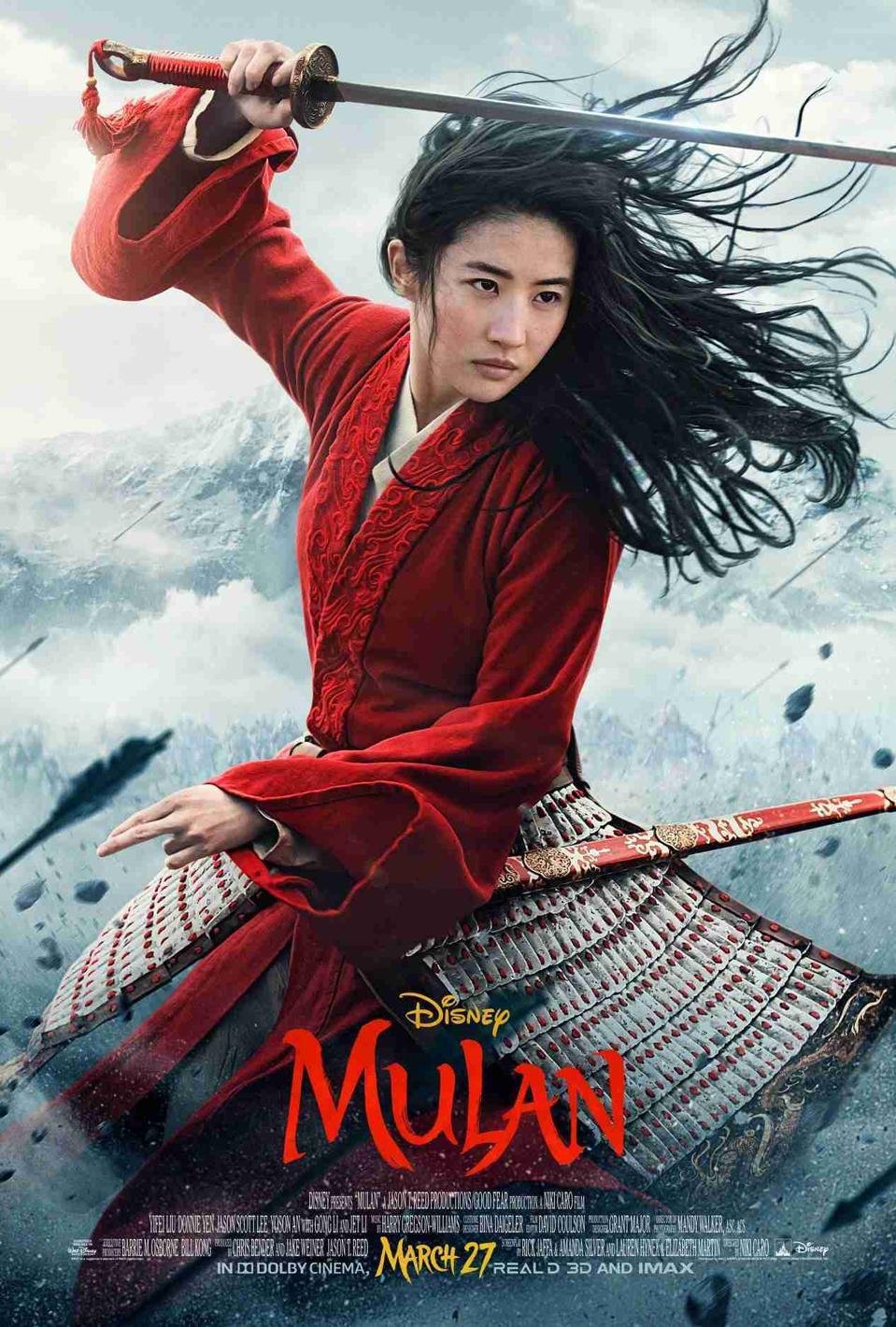 Liu Yifei in Walt Disney's 'Mulan'
