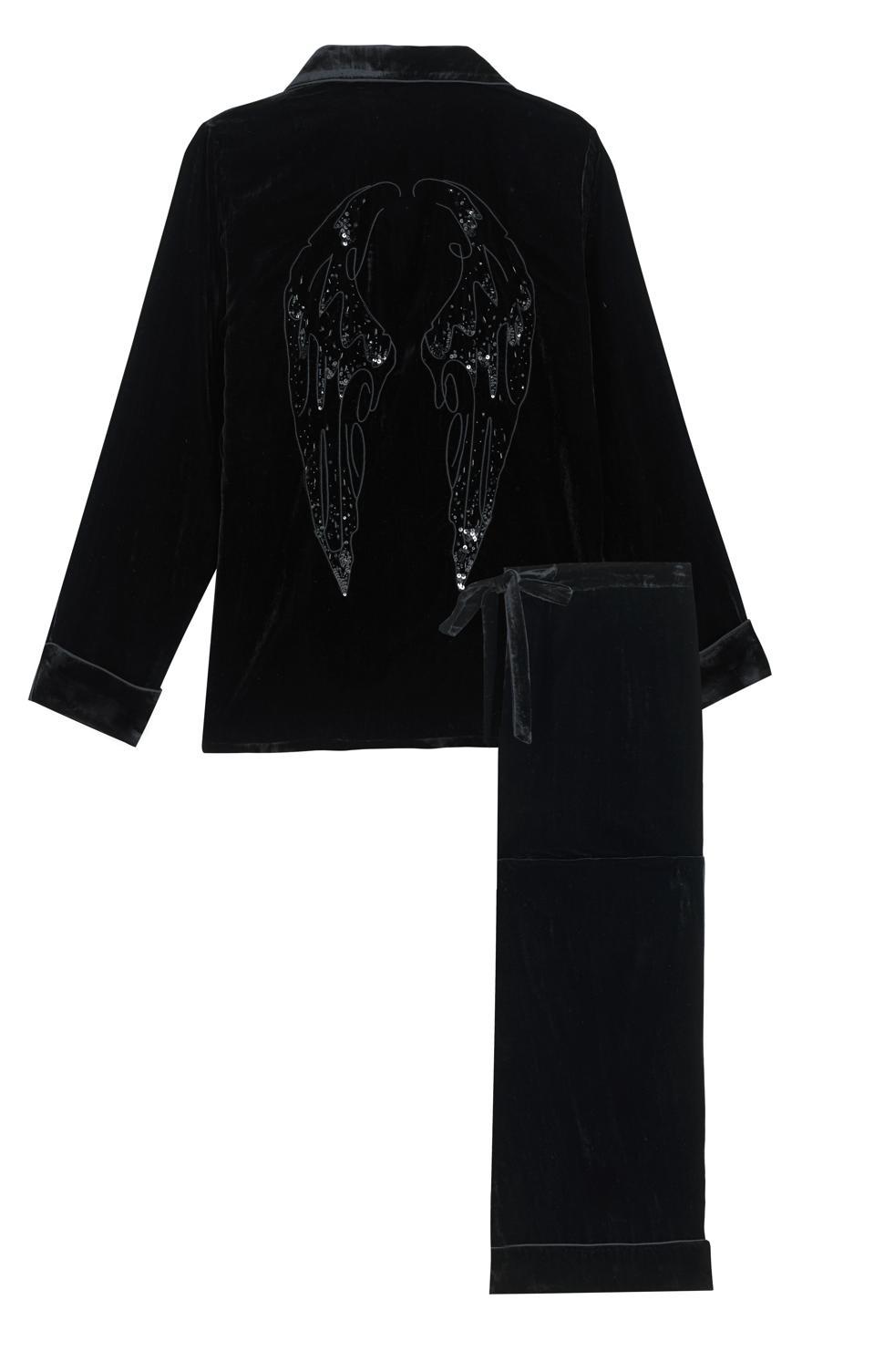 Olivia von Halle x Disney Maleficent: Mistress of Evil Coco Curse Silk Velvet Pajama Set