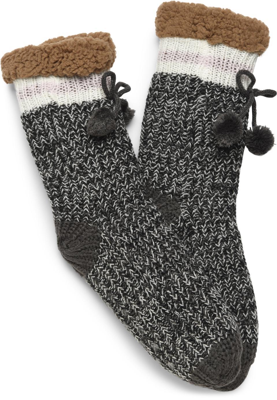 Born Charcoal Slipper Sock