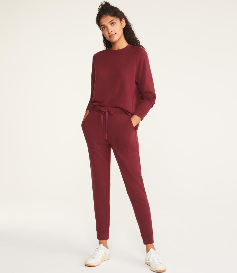 Lou & Grey Signaturesoft Plush Upstate Sweatshirt and Sweatpants