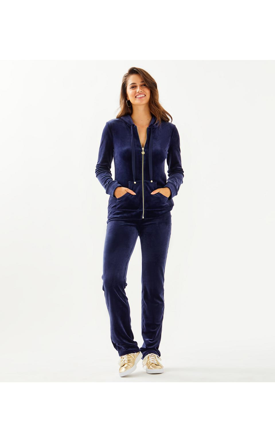 Lilly Pulitzer Larina Velour Zip-Up and Pant