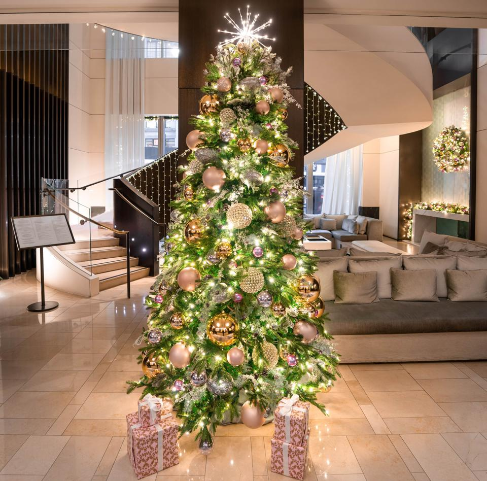 The Langham Hotel celebrates the holidays in big ways for guests.