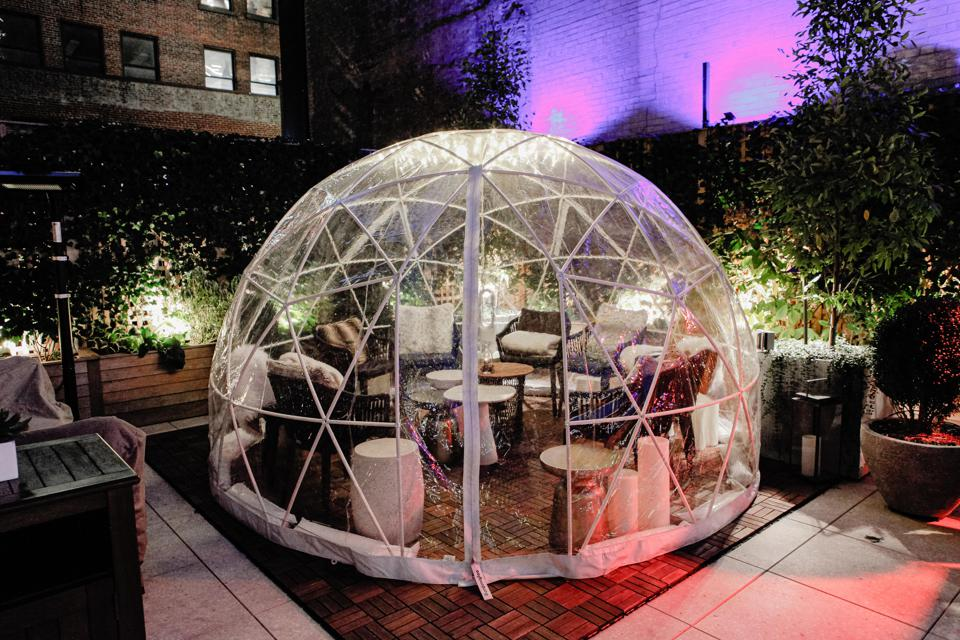Rooftop igloos are a special attraction at Park Terrace Hotel.