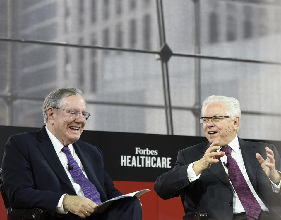 Steve Forbes in conversation with Stefano Pessina, CEO of Walgreens Boots Alliance.