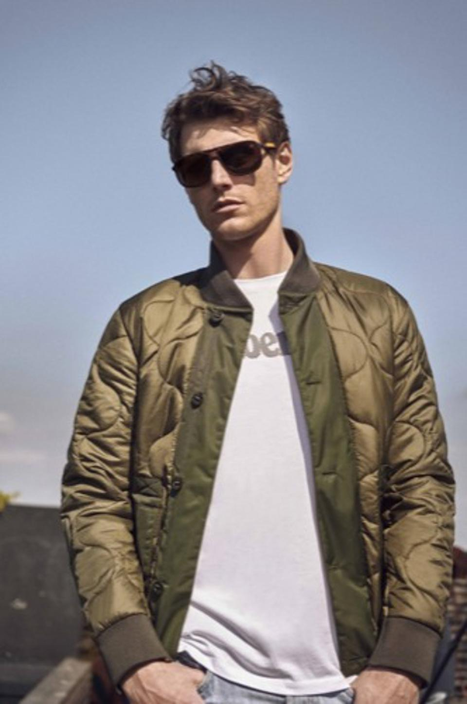 A campaign image for Timberland eyewear