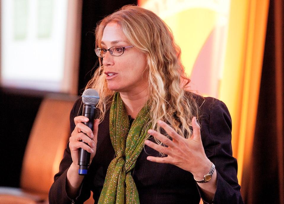 Fran Seegull giving a speech
