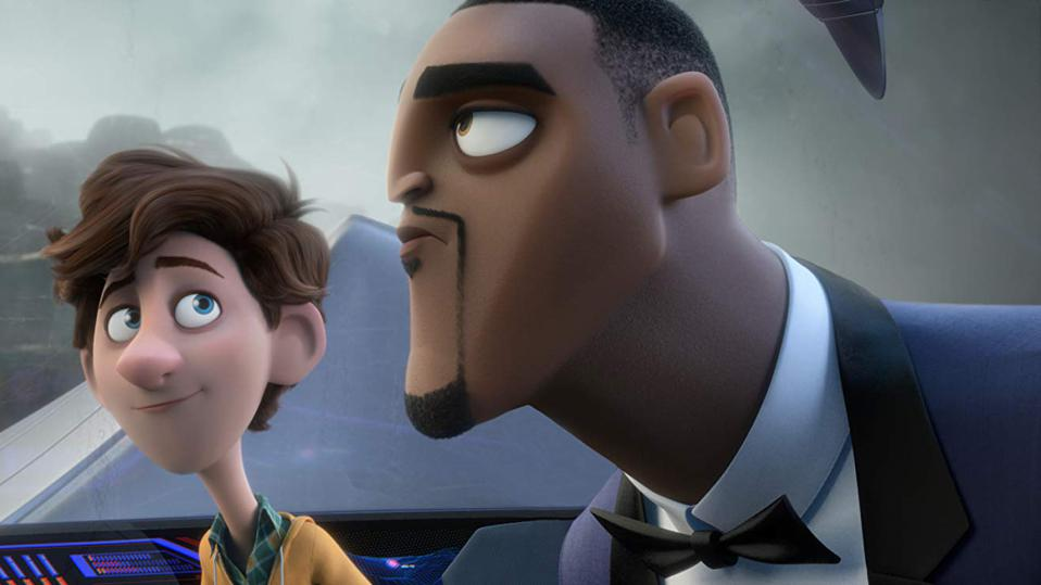 Will Smith and Tom Holland in Spies in Disguise