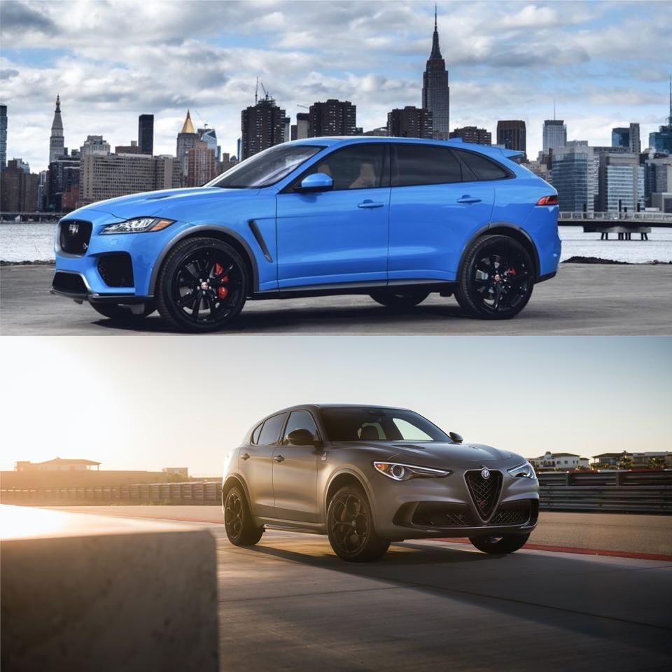Jaguar F-Pace SVR or Alfa Romeo Stelvio Quadrifoglio? There's No Wrong Answer