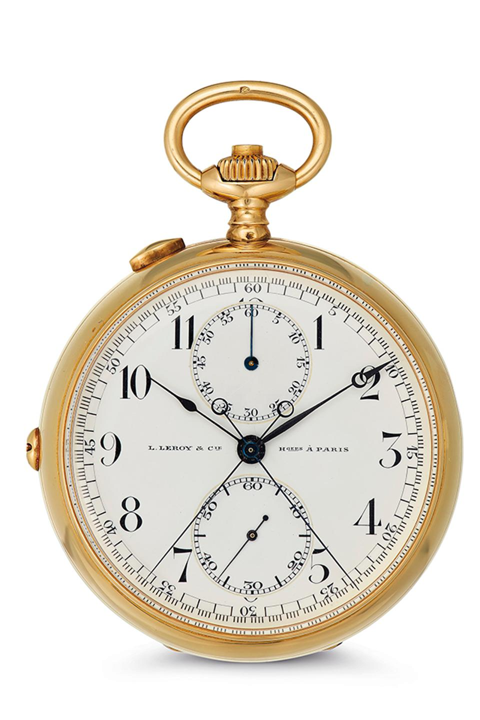 A Leroy & Cie pocket watch once owned by Ernest Hemingway, to be auctioned next week by Christe's.