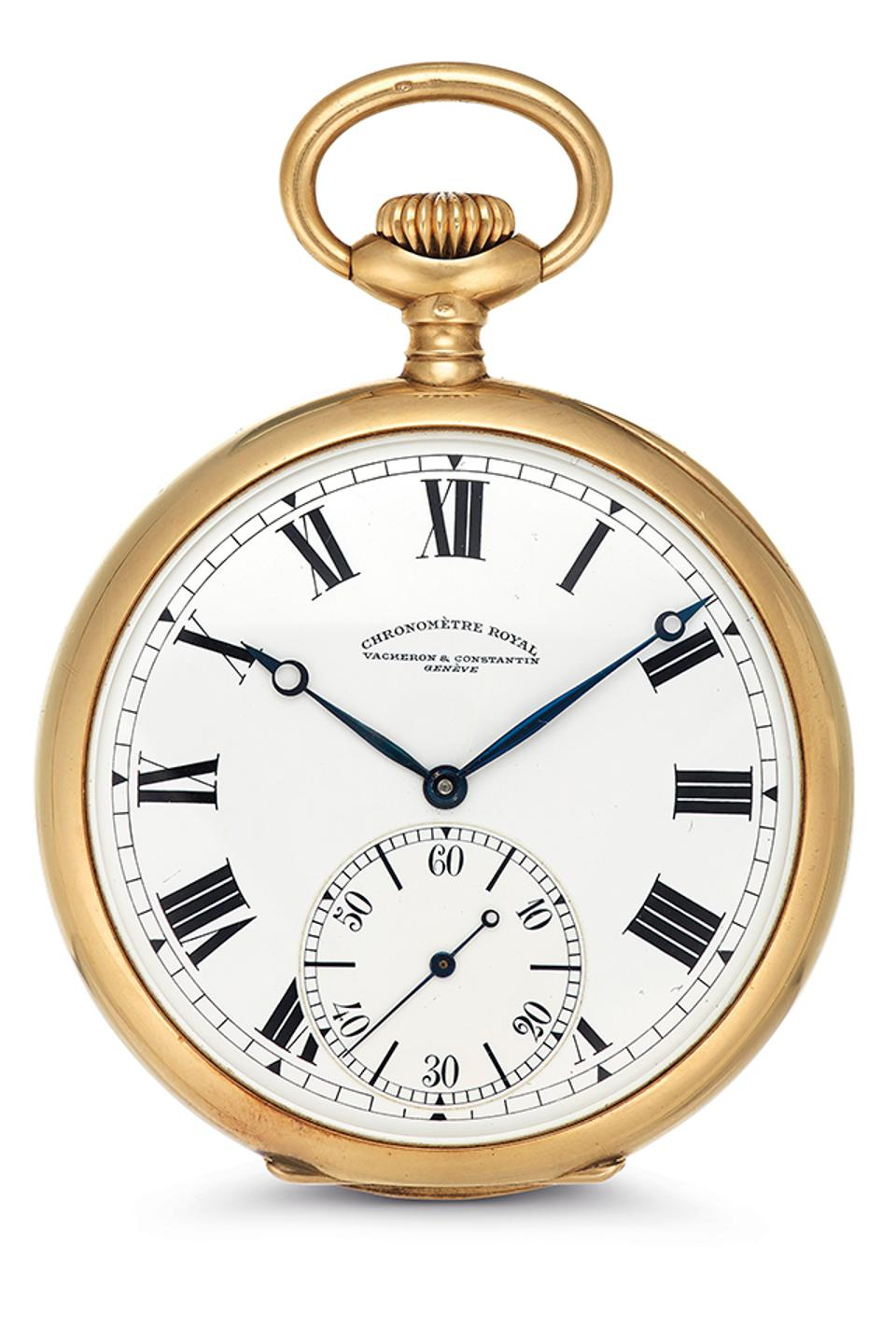 A Vacheron Constantin pocket watch once owned by hotelier Charles C. Ritz. To be auctioned by Christie's.