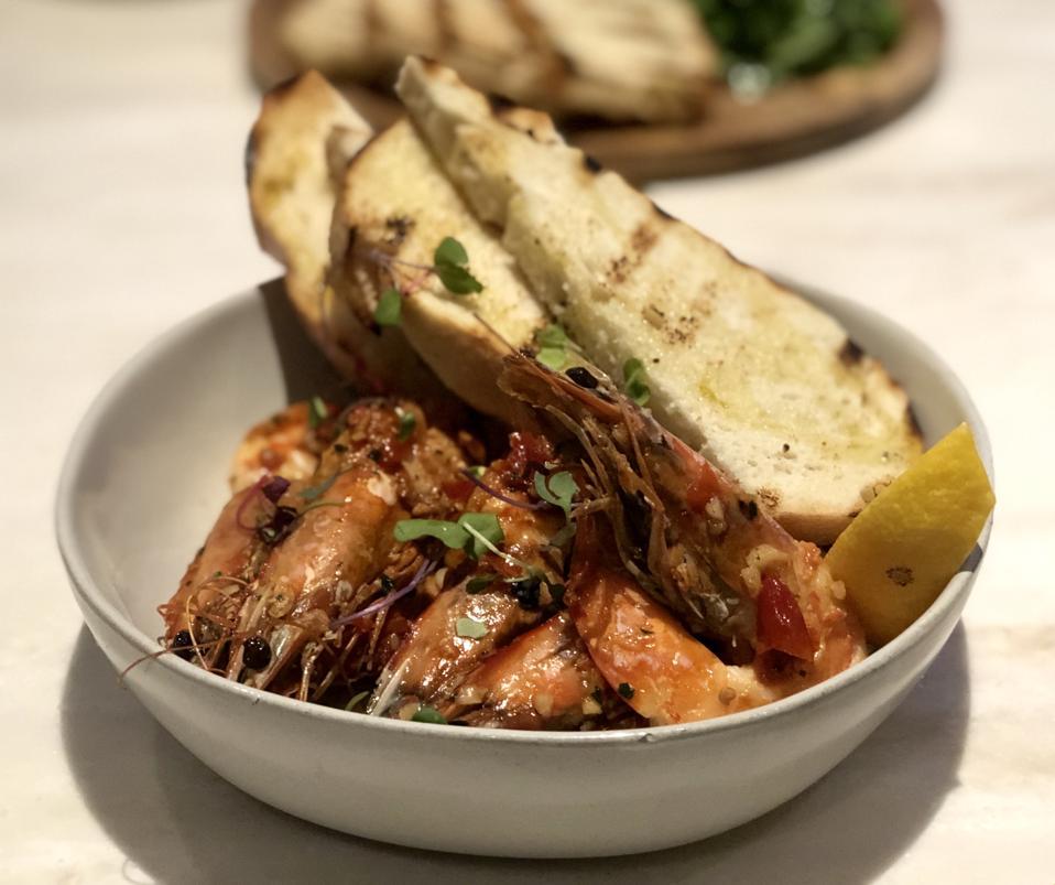 Calabrian Chili Garlic Shrimp at Quiora Restaurant Waikiki