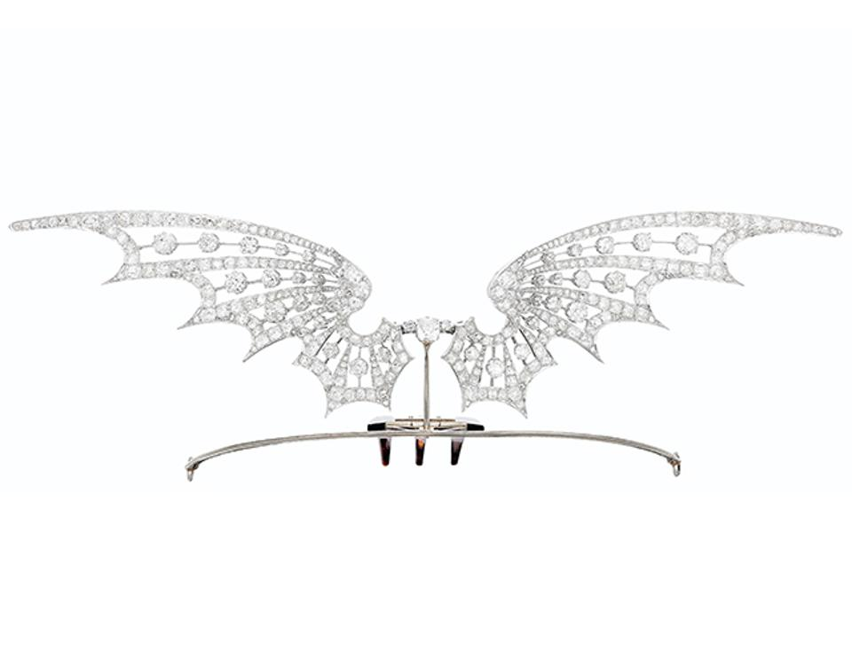 Art Nouveau diamond tiara, made by Henri Vever, to be auctioned at Christie's.