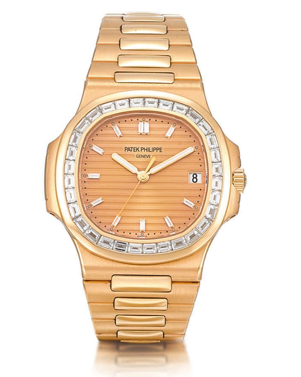 Rare pink Patek Philippe Nautilus, to be auctioned by Sotheby's.
