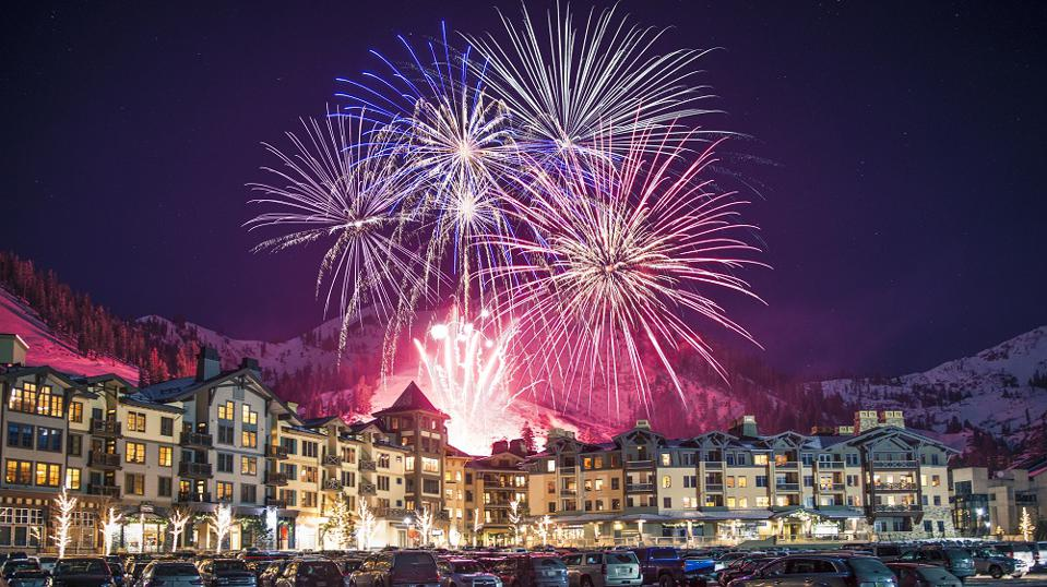 Fireworks over Squaw Village