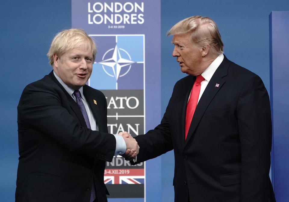 Boris Johnson welcomes Donald Trump.