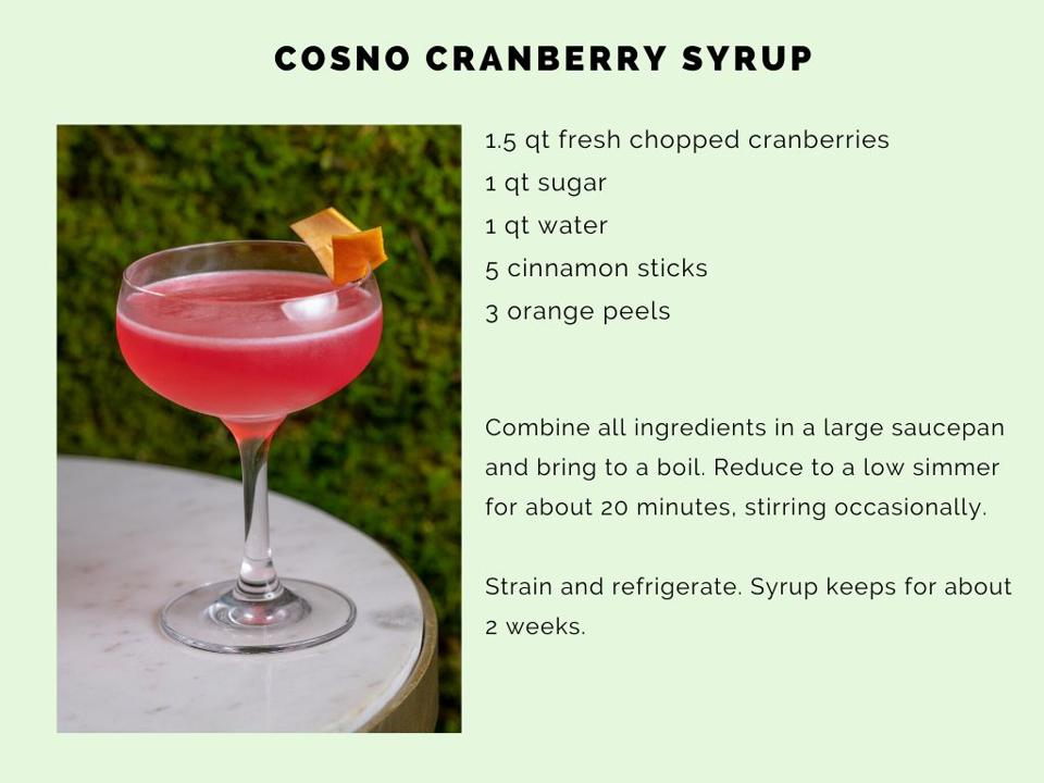 The CosNo cranberry-orange syrup is easy to make.