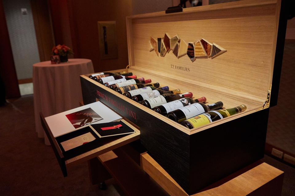 One of the Custom-Crafted Wooden Cases of 12 Rare Bottles from PFV