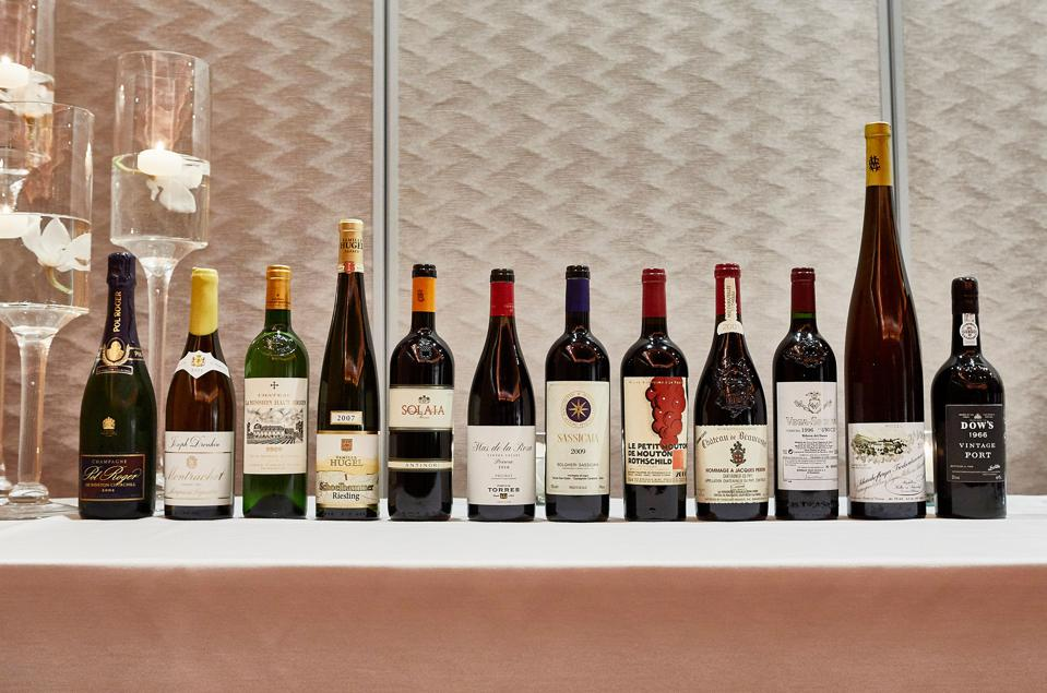 Lineup of PFV Wines