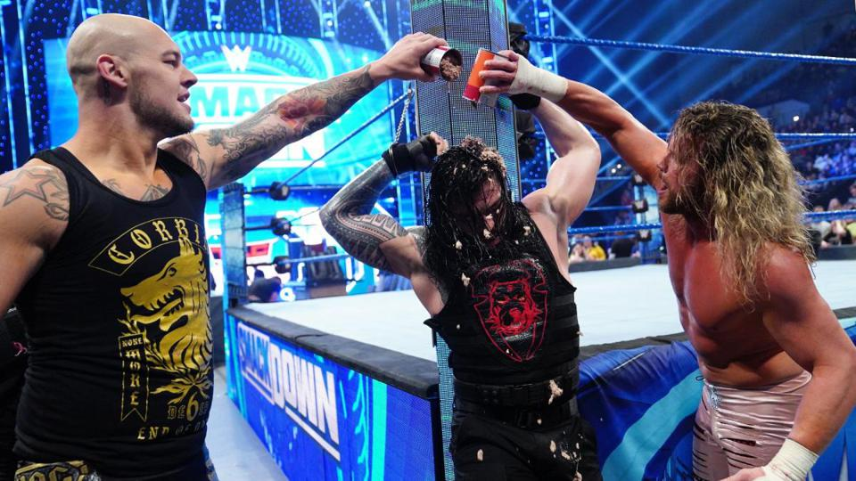 WWE SmackDown: Roman Reigns, Baron Corbin and Dolph Ziggler