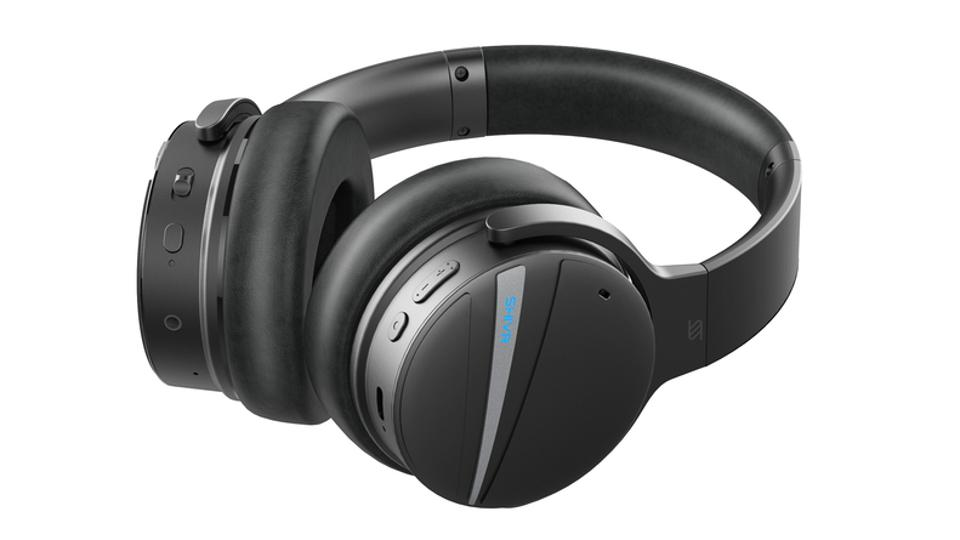 Side view of SHIVR NC18 noise-canceling headphones