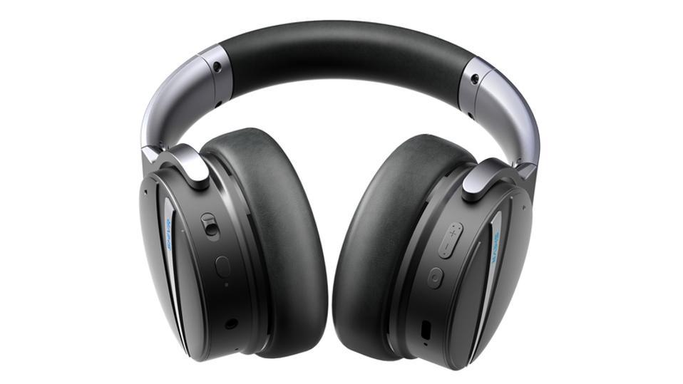 Bottom view of SHIVR NC18 noise-canceling headphones