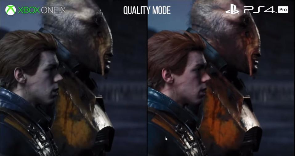 Xbox One X vs. PS4 Pro resolution comparison