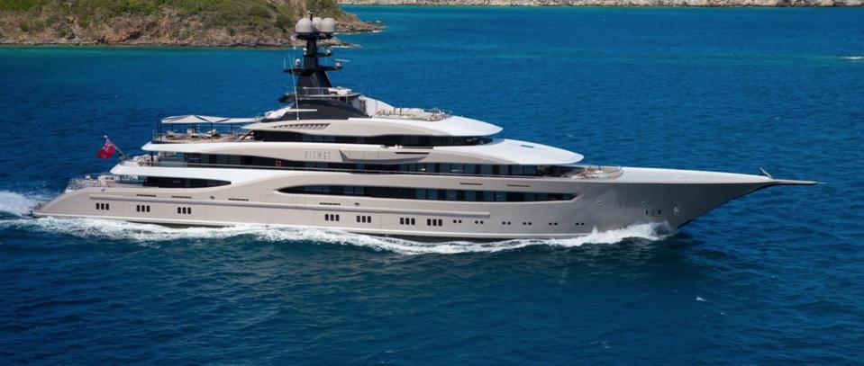 Jacksonville Jaguars owner Shahid Khan's 312-foot-long superaycht Kismet rents for up to $1.2 million per week.
