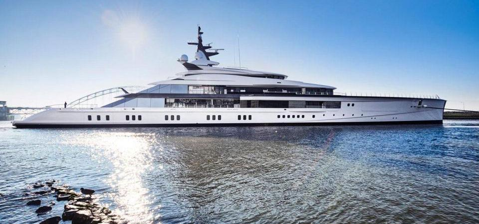 Jerry Jones' 357-foot-long superyacht draws attention wherever it docks.