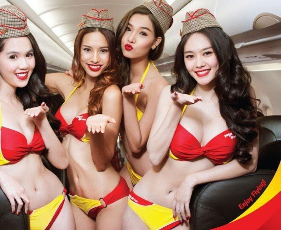 bikinis flight attendants