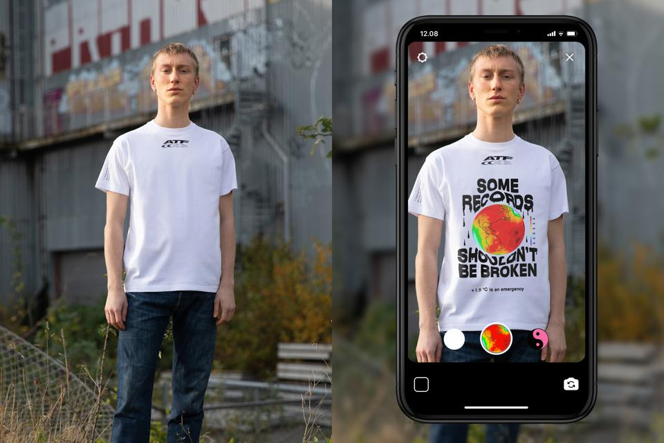 Carlings new phygital t-shirt concept using Instagram's new face filter tech allows one t-shirt to be reborn, infinitely.