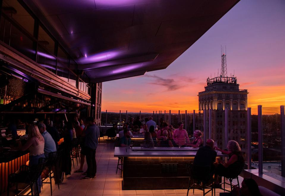 The Exchange is the city's newest rooftop lounge.