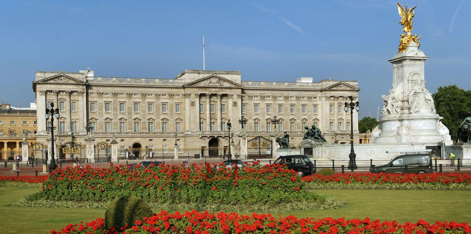Buckingham Palace is a favorite tour stop for visitors. each year.