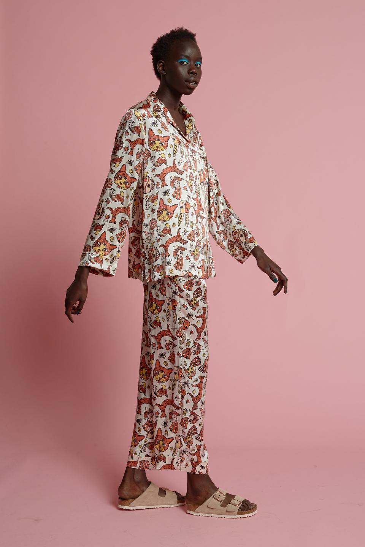 Papinelle x Karen Walker pajama set.