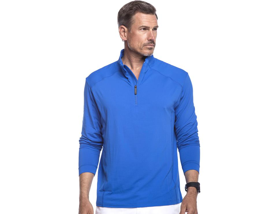 Long Sleeve Mock-Neck Pullover from IBKUL