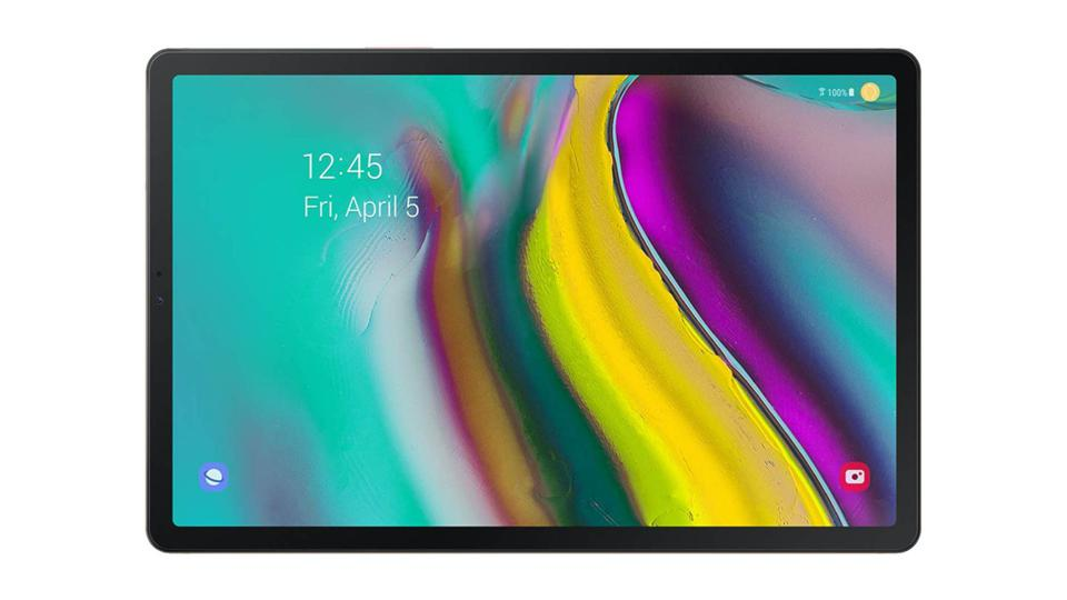 Samsung Galaxy Tab S5e tablet on a white background.