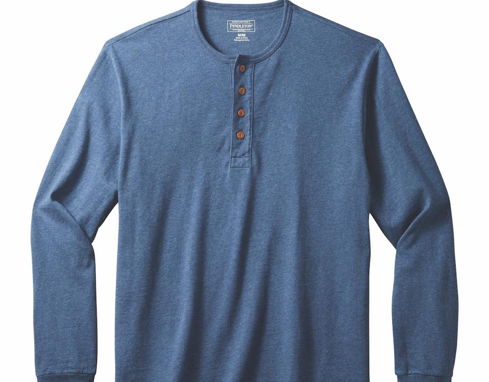 Men's Long-Sleeve Deschutes Henley from Pendleton