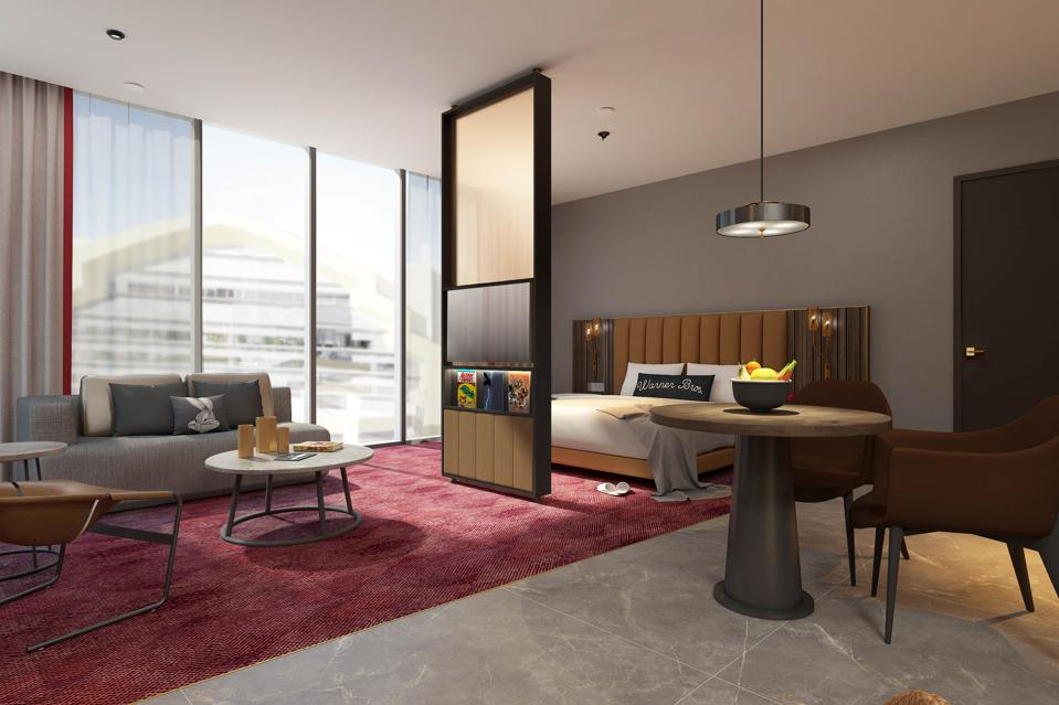 The rooms will feature subtle touches inspired by Warner's catalogue of classic characters