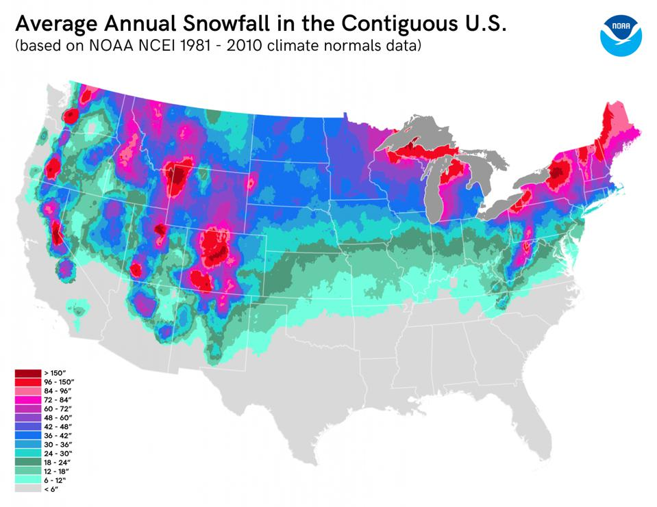 snowfall map of us Are We Going To Get Snow This Year 3 Possible Answers To This