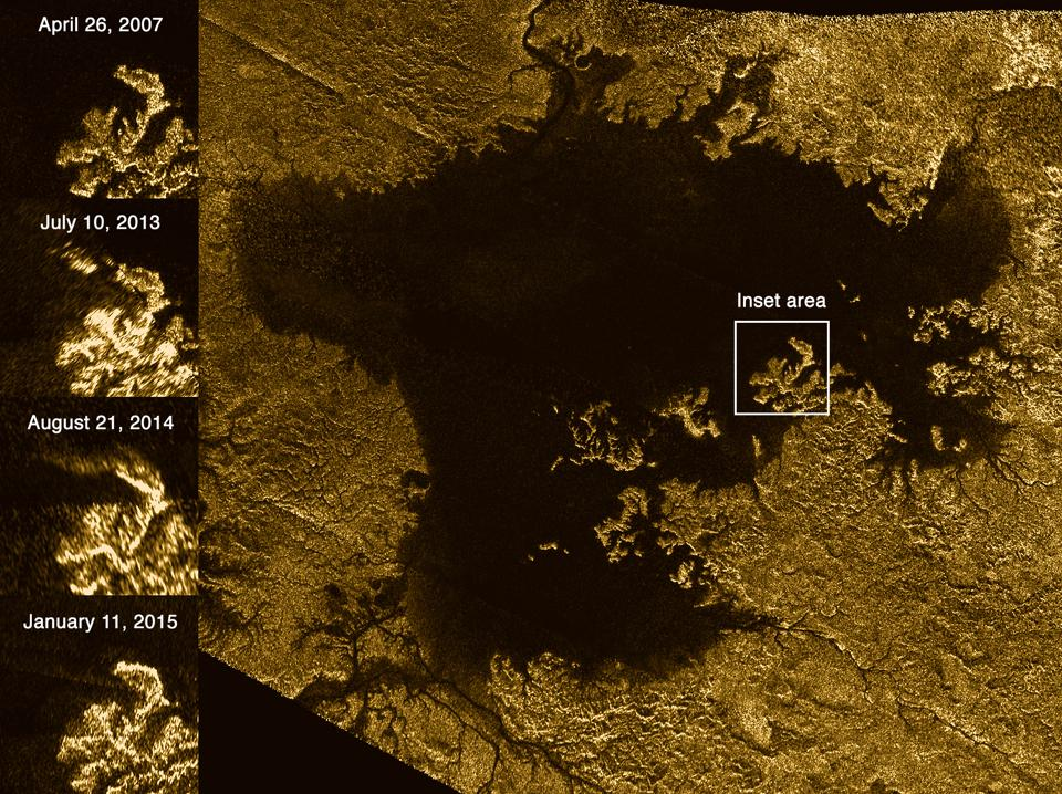 Bubbles Could Solve The Mystery Of Titan's Disappearing Islands