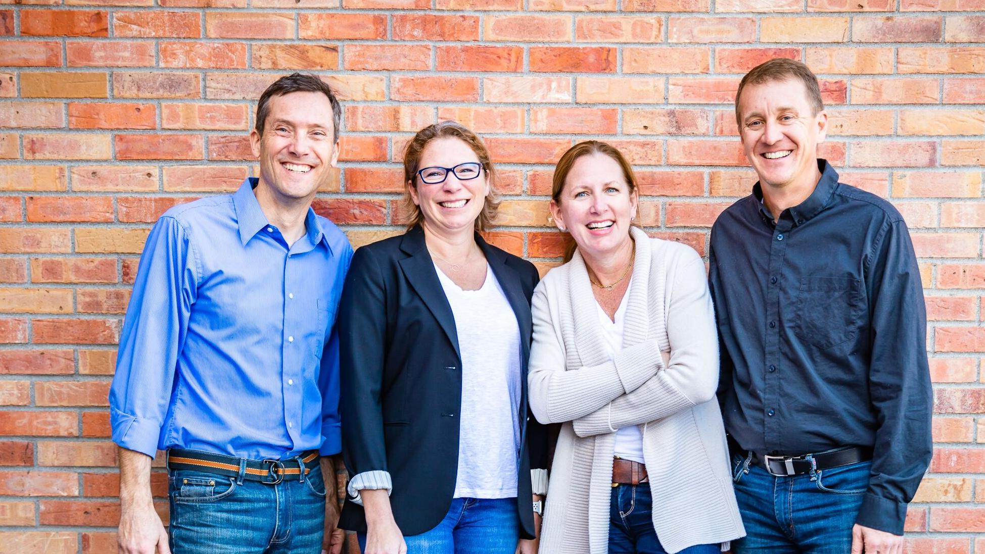 From left to right: Shawn Bertini, Partner; Amanda Montgomery, Partner; Stephanie Copeland, Partner; Chris Montgomery, Partner. (PC: Four Points Funding)