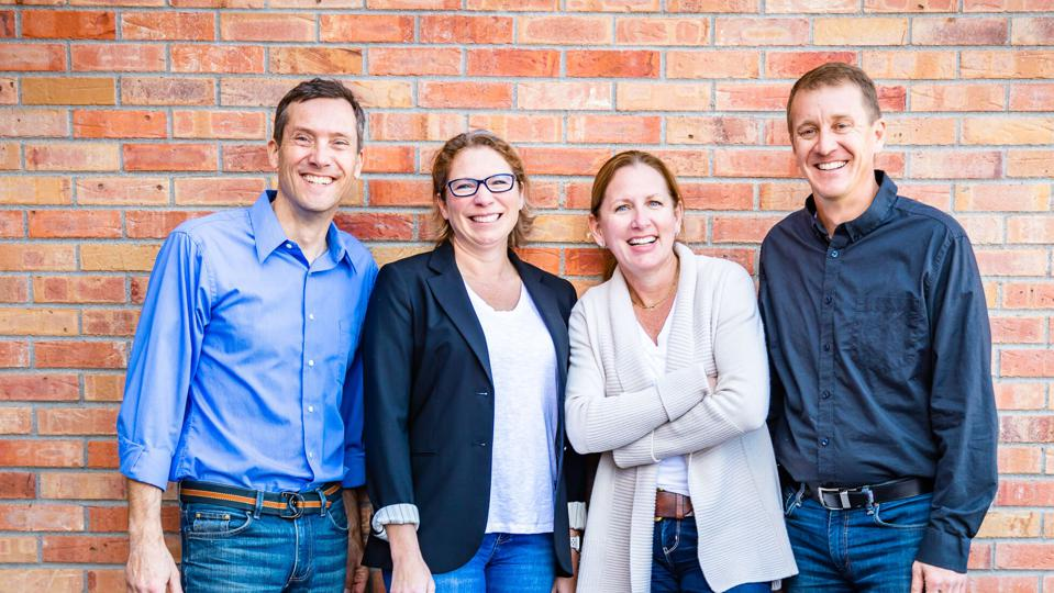 From left to right: Shawn Bertini, Partner; Amanda Montgomery, Partner; Stephanie Copeland, Partner; Chris Montgomery, Partner. (PC: Four Points Funding)