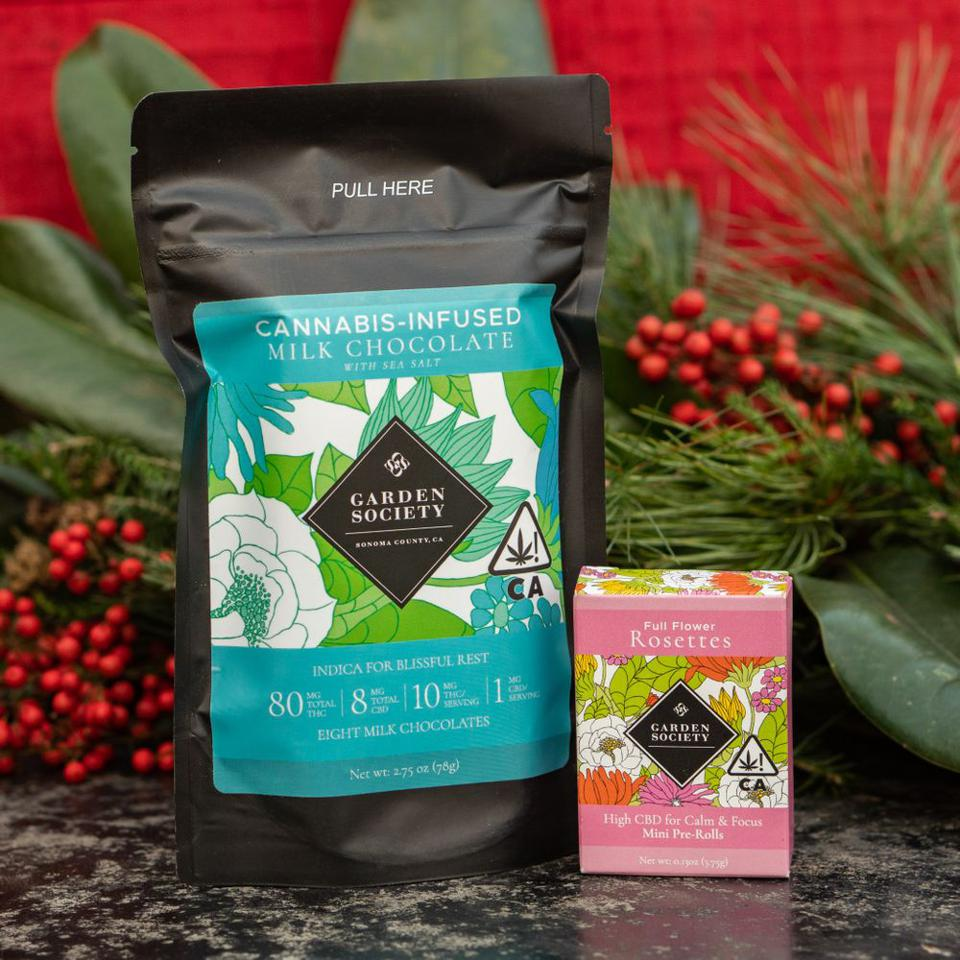 Garden Society, cannabis-infused chocolate, cannabis gift sets, cannabis gift guide