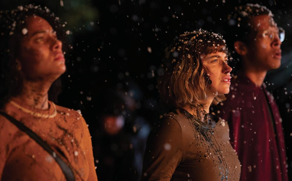 Aleyse Shannon, Imogen Poots and Caleb Eberhardt