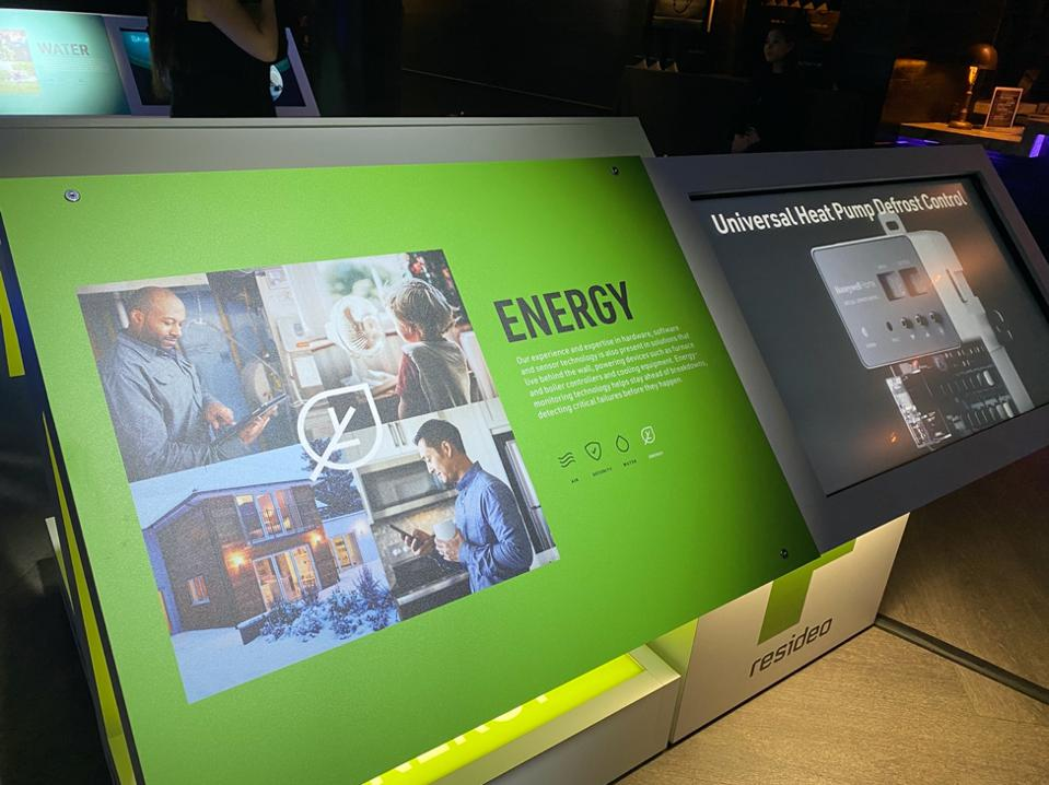 Energy display at Resideo LIVE event.