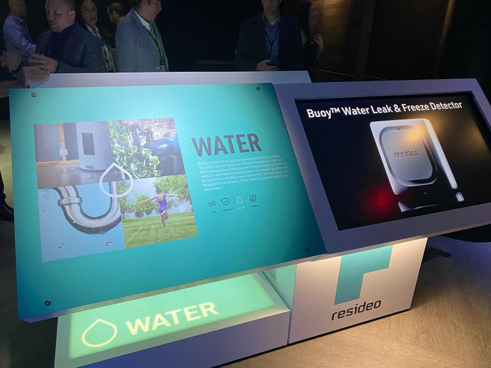 Water display at Resideo LIVE event.