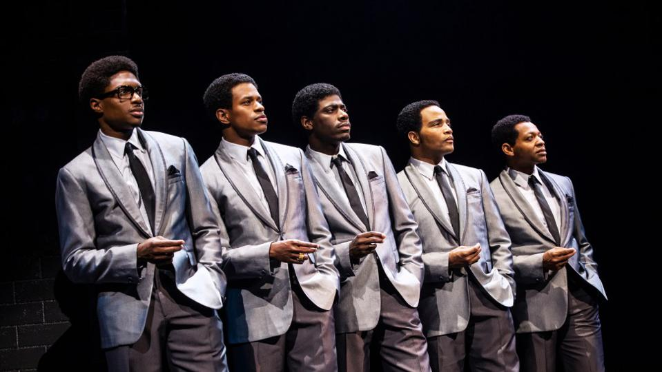 Ephraim Sykes, Jeremy Pope, Jawan M. Jackson, James Harkness, and Derrick Baskin in AIN'T TOO PROUD