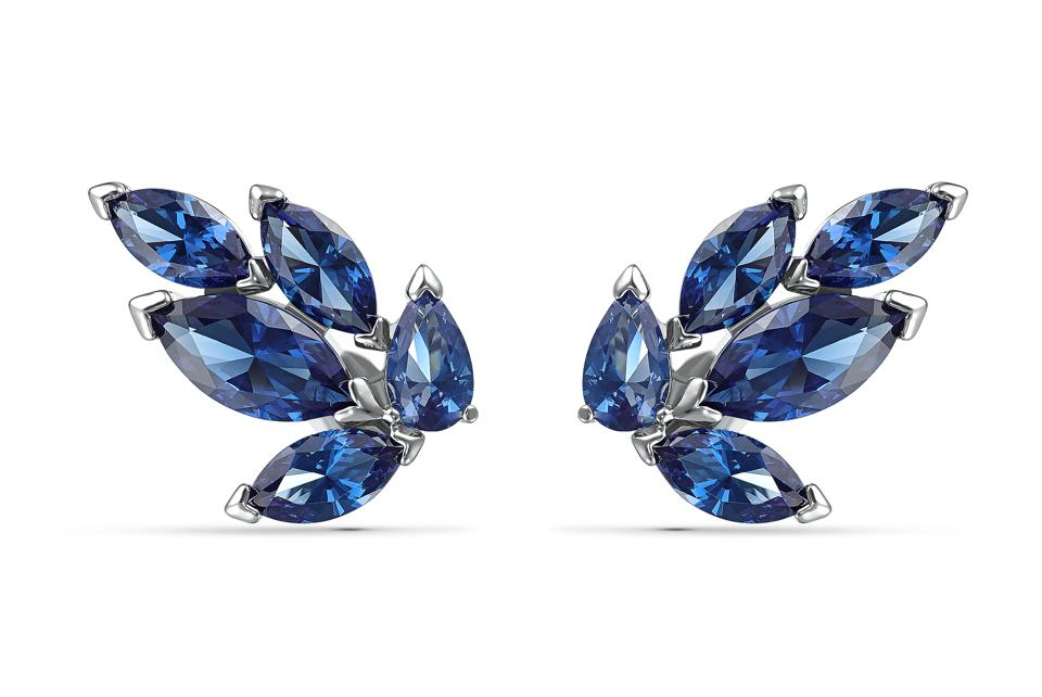 Blue crystal earrings from Swarovski's 125th anniversary collection