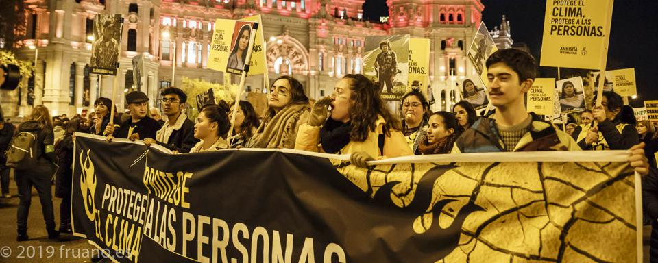 Protests in Madrid on December 6.