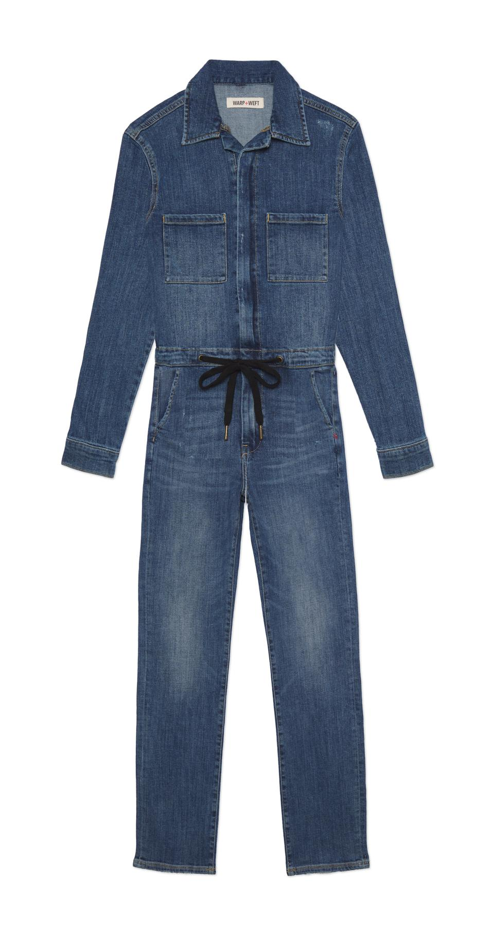Warp & plus; Weft Denim Jumpsuit.