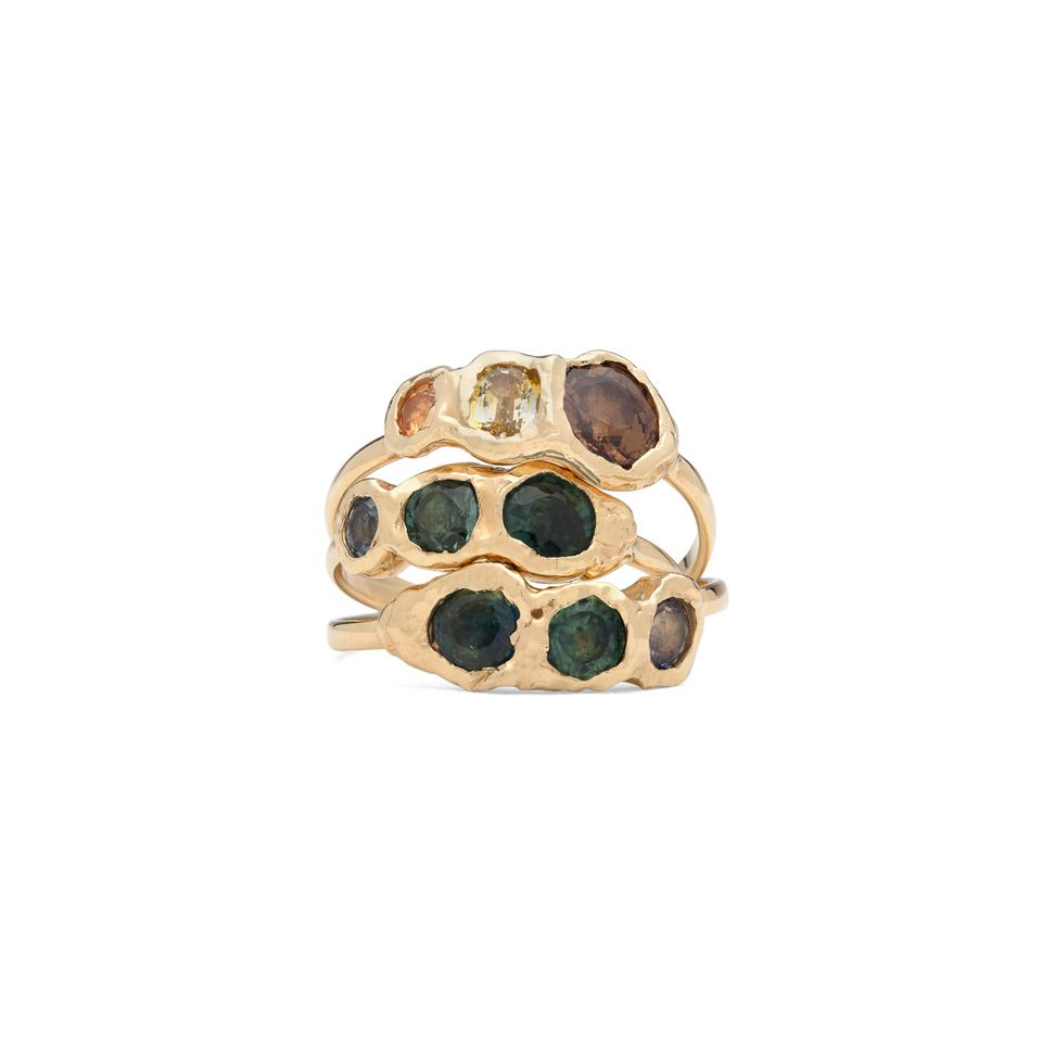 Fie Isolde stacked rings.